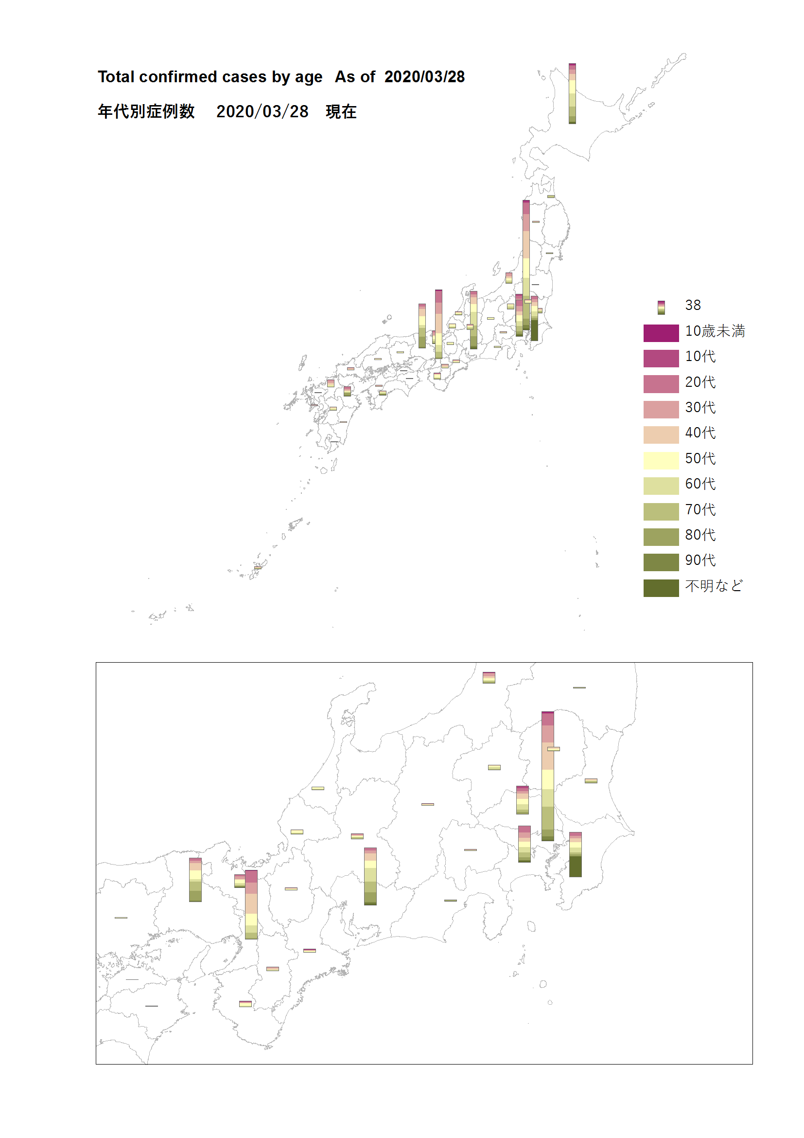covid map by age 2020 03 28 @japan
