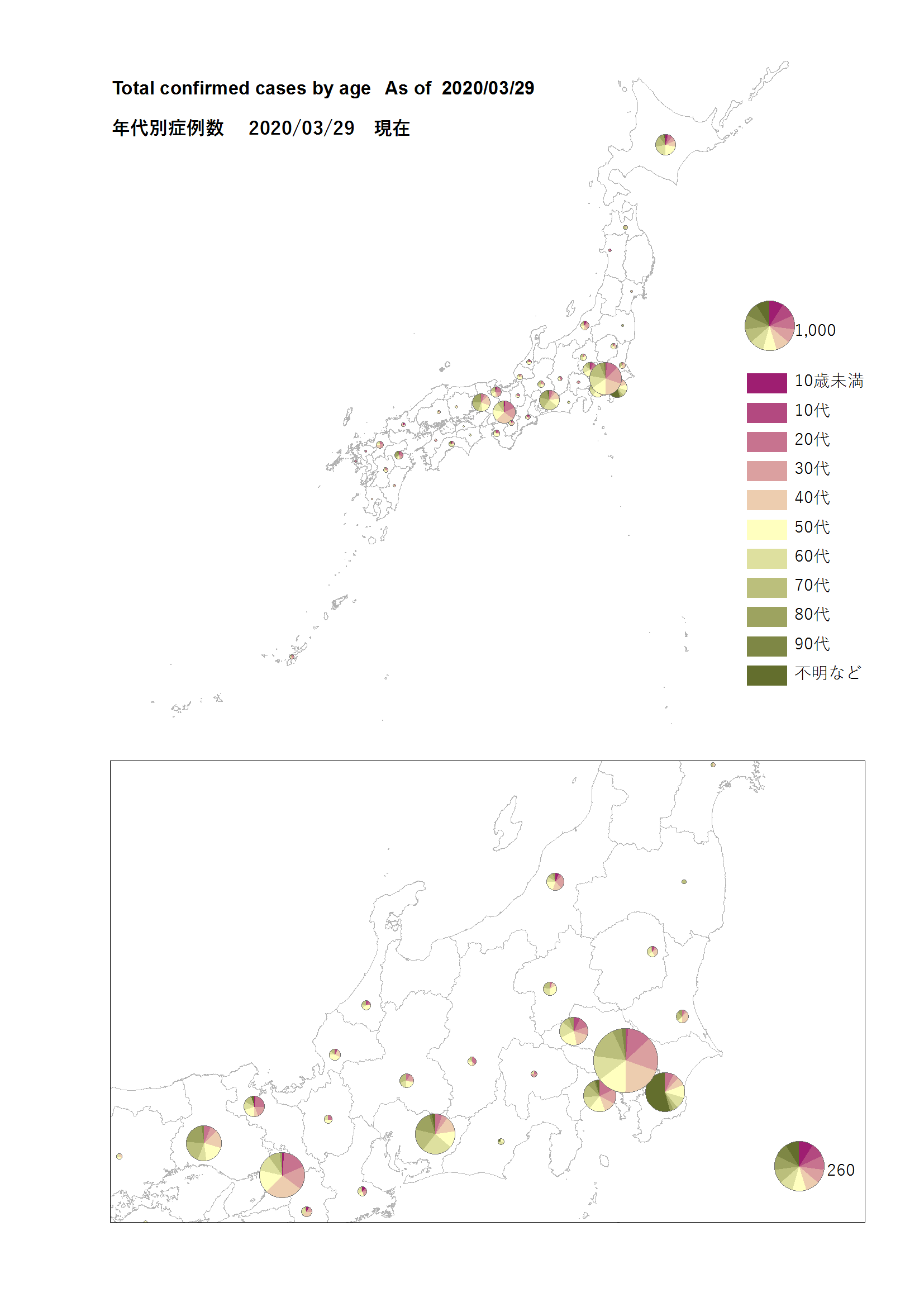 covid map by age 2020 03 29 @japan