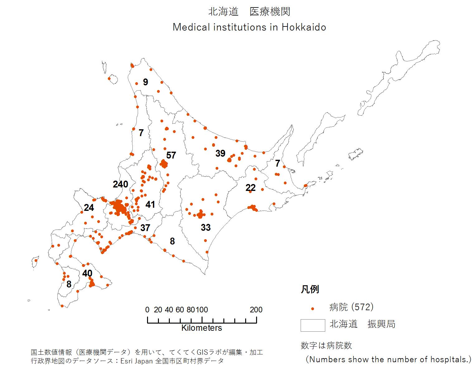 Hospitals in Hokkaido